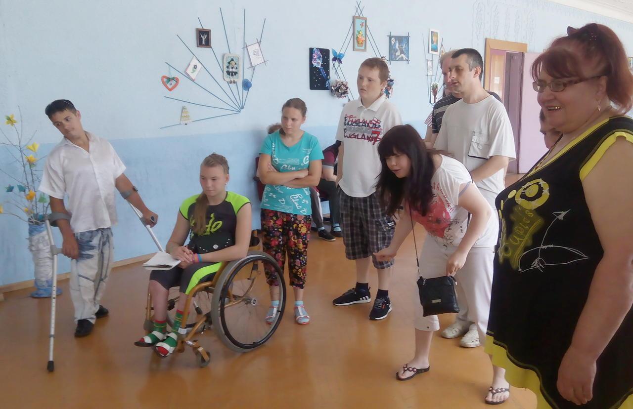 Конкурс с детьми-инвалидами