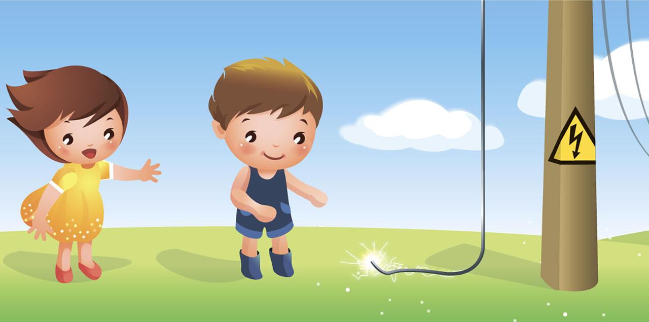 Электричество картинки для детей нарисованные